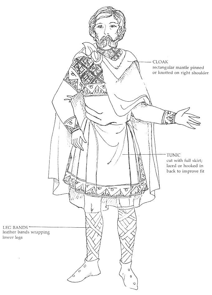 скандинавский муж костюм 11 века.